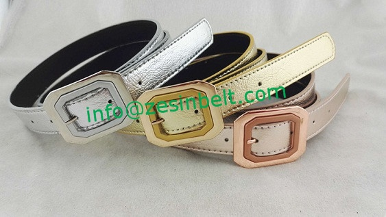 Fashion Wide Gold Silver Brown Belt For Women Pants