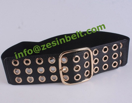 Fashion Gold Grommet Decoration Stretch Belt
