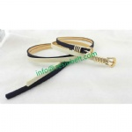 Tan Skinny Belt For Women With Alloy Loop